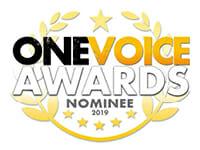 one voice awards logo 2019