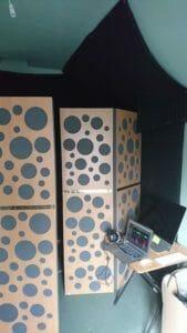 Studio tickling tours – acoustic treatment in Emma Clarkes' studio