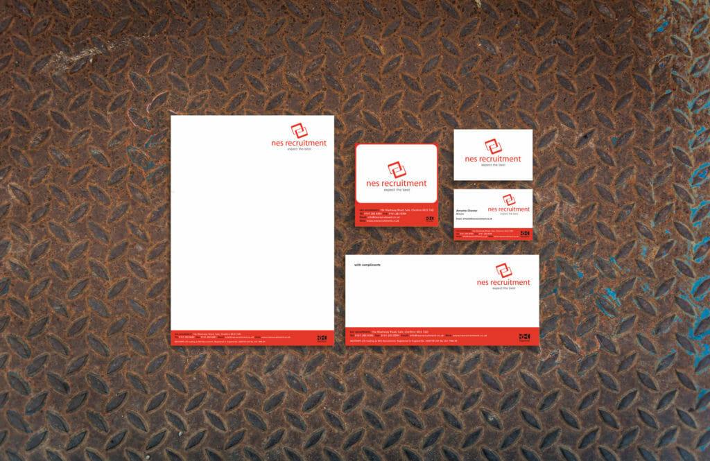 NES Recruitment business stationery
