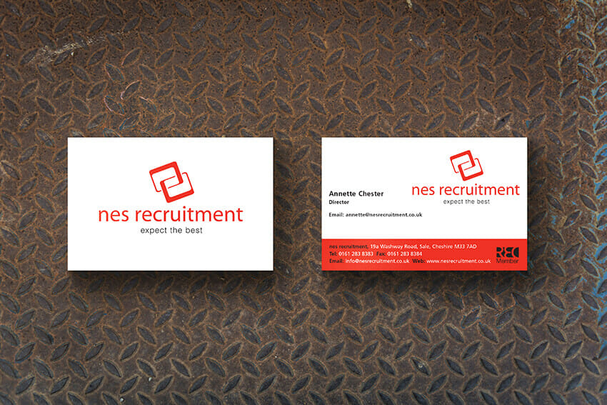 NES Recruitment Business cards.