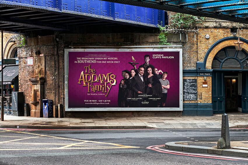 Addams Family Tour 48 Sheet billboard