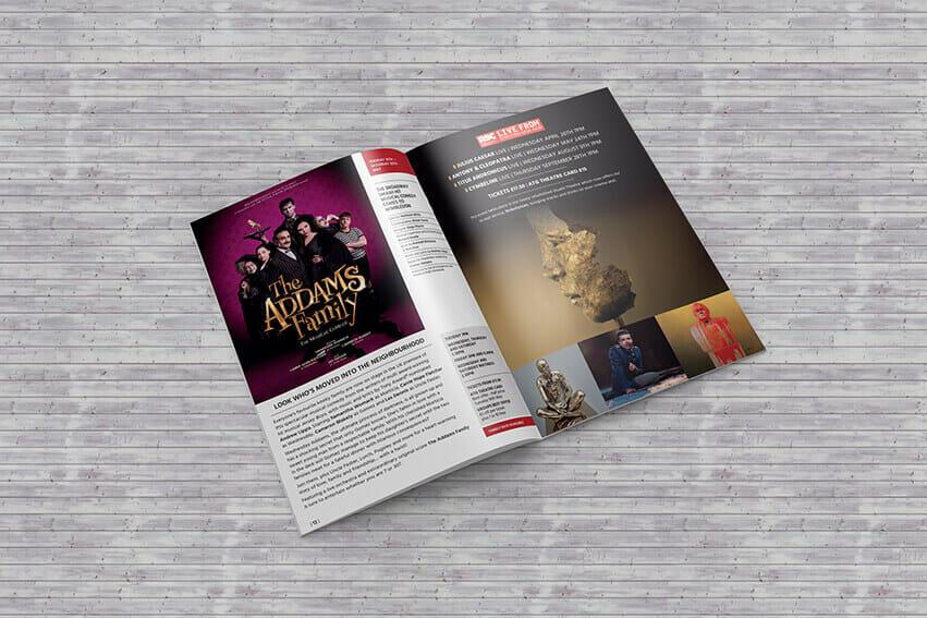 Addams Family Tour brochure