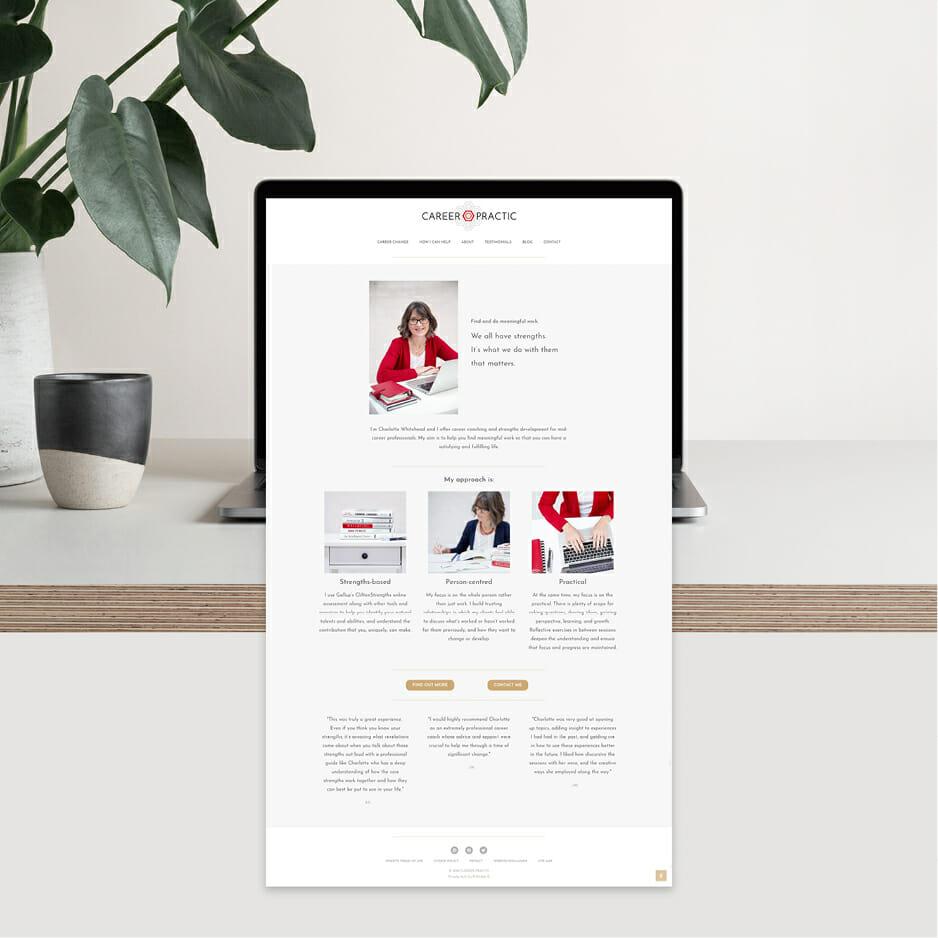 B Double E – Career Practic branding, website and socials