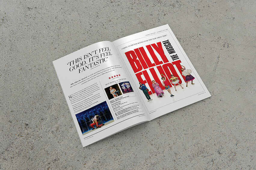 Billy Elliot lampost brochure advert