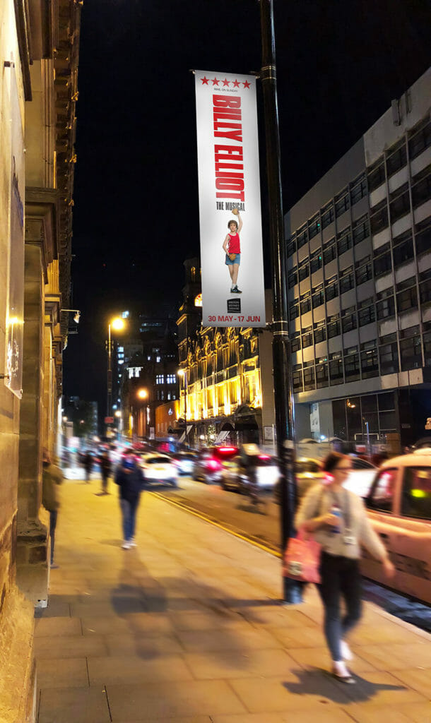 Billy Elliot lampost banner