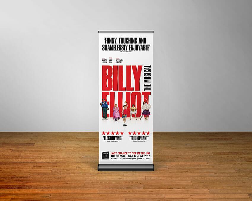 Billy Elliot pull-up banner.