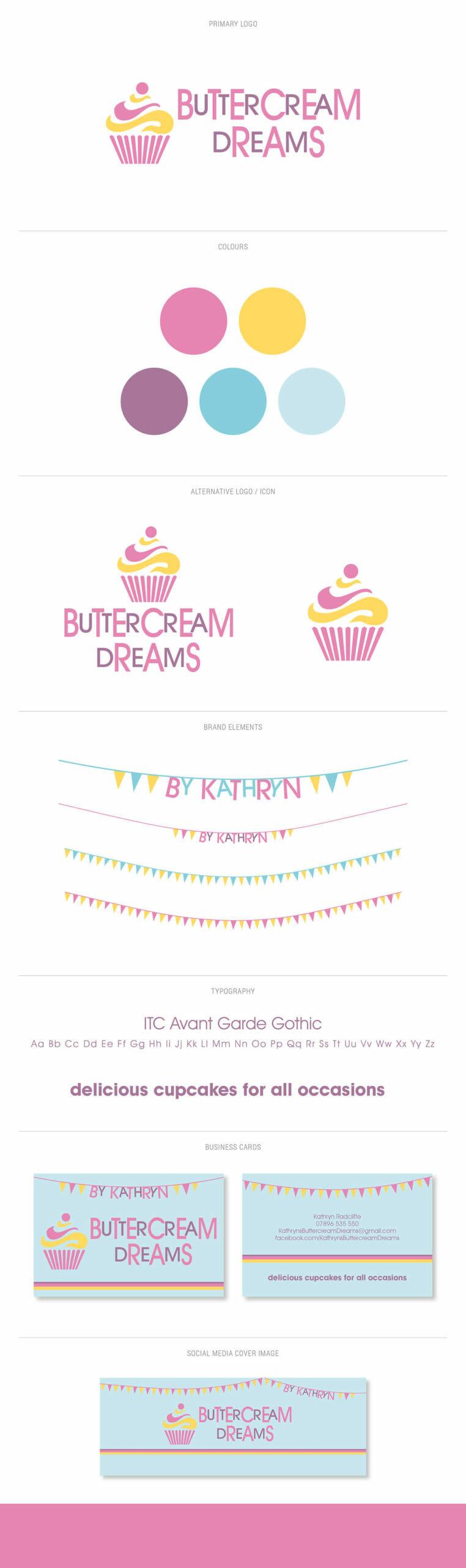Buttercream Dreams branding identity
