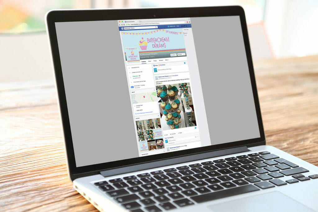 Buttercream Dreams social media setup