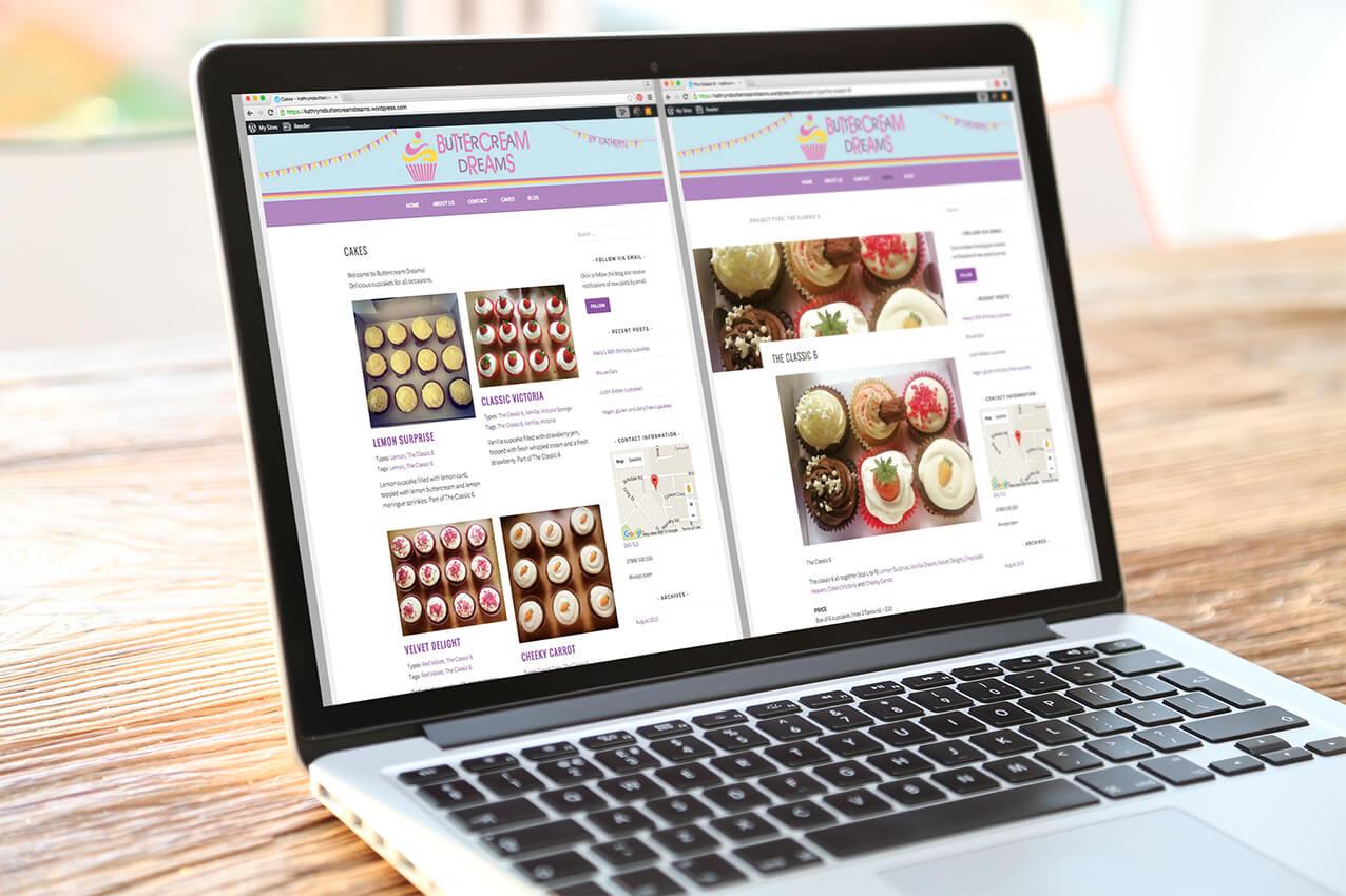 Buttercream Dreams website