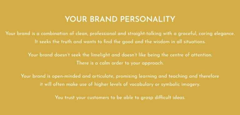 Career Practic brand personality