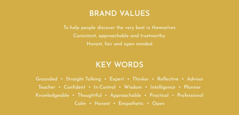 Career Practic brand values