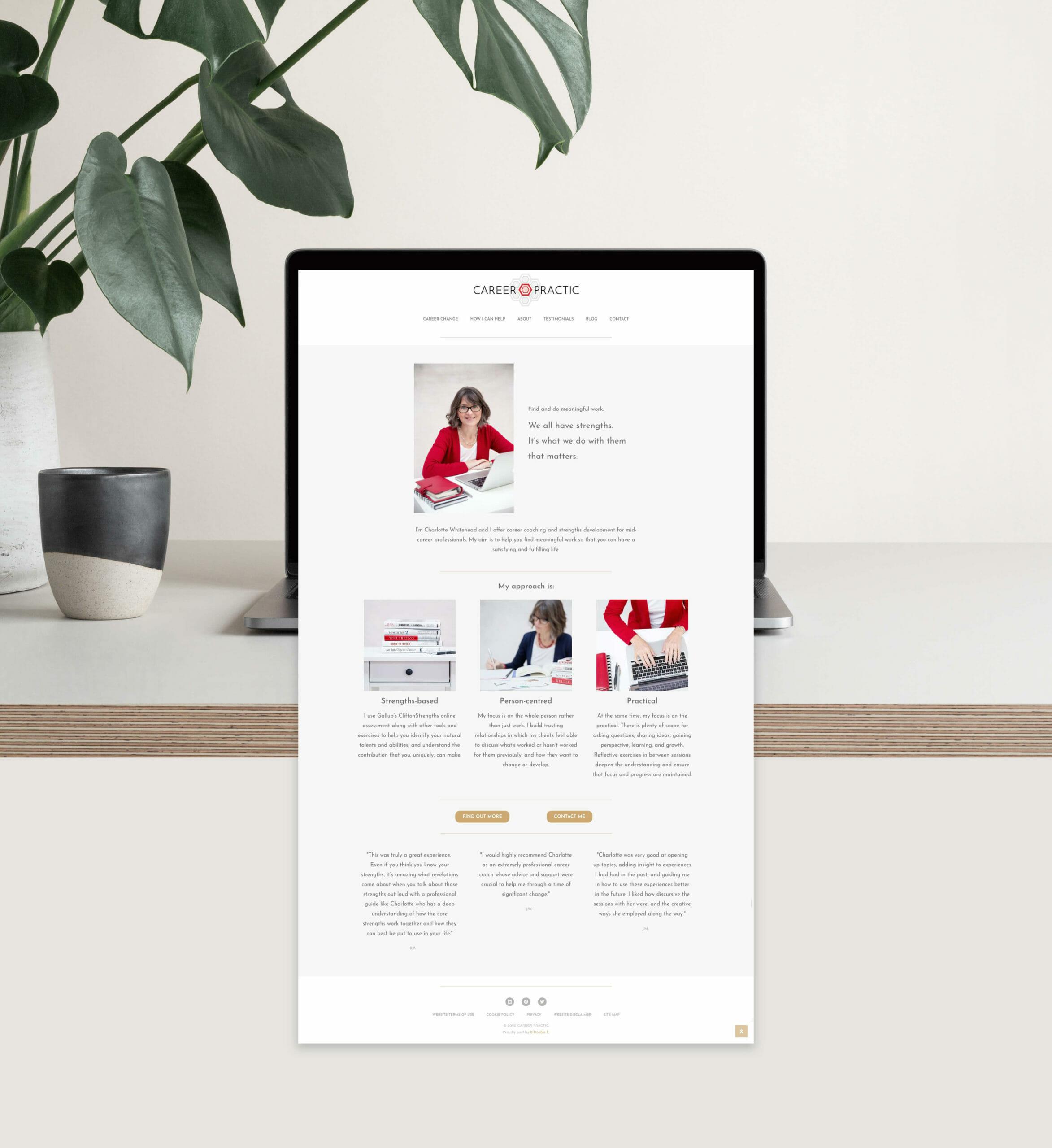 Career Practic responsive website home page