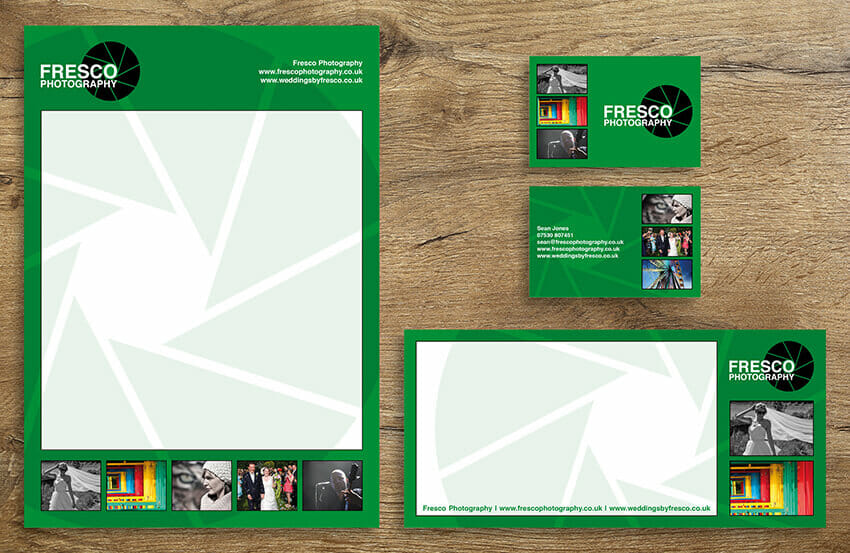 Fresco Photography business stationery