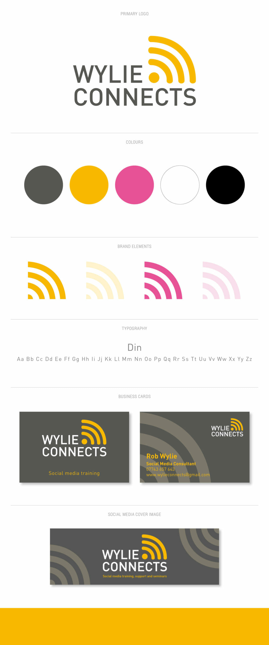 Wylie Connects brand board