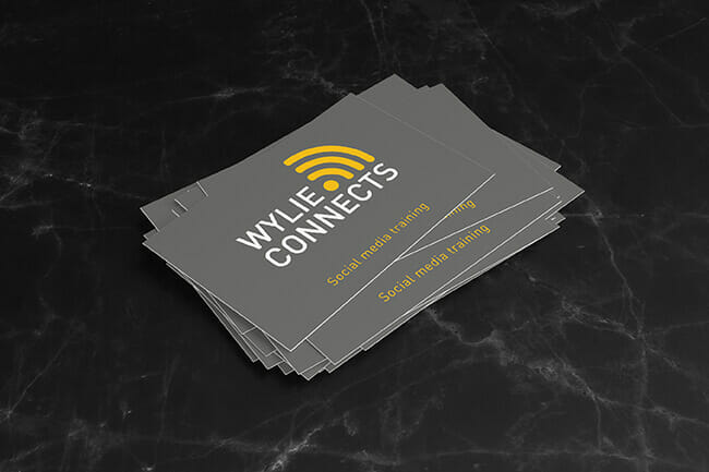 Wylie Connects business cards