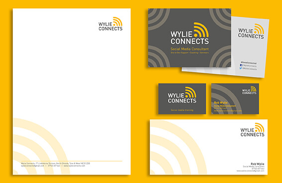 Wylie Connects business stationery