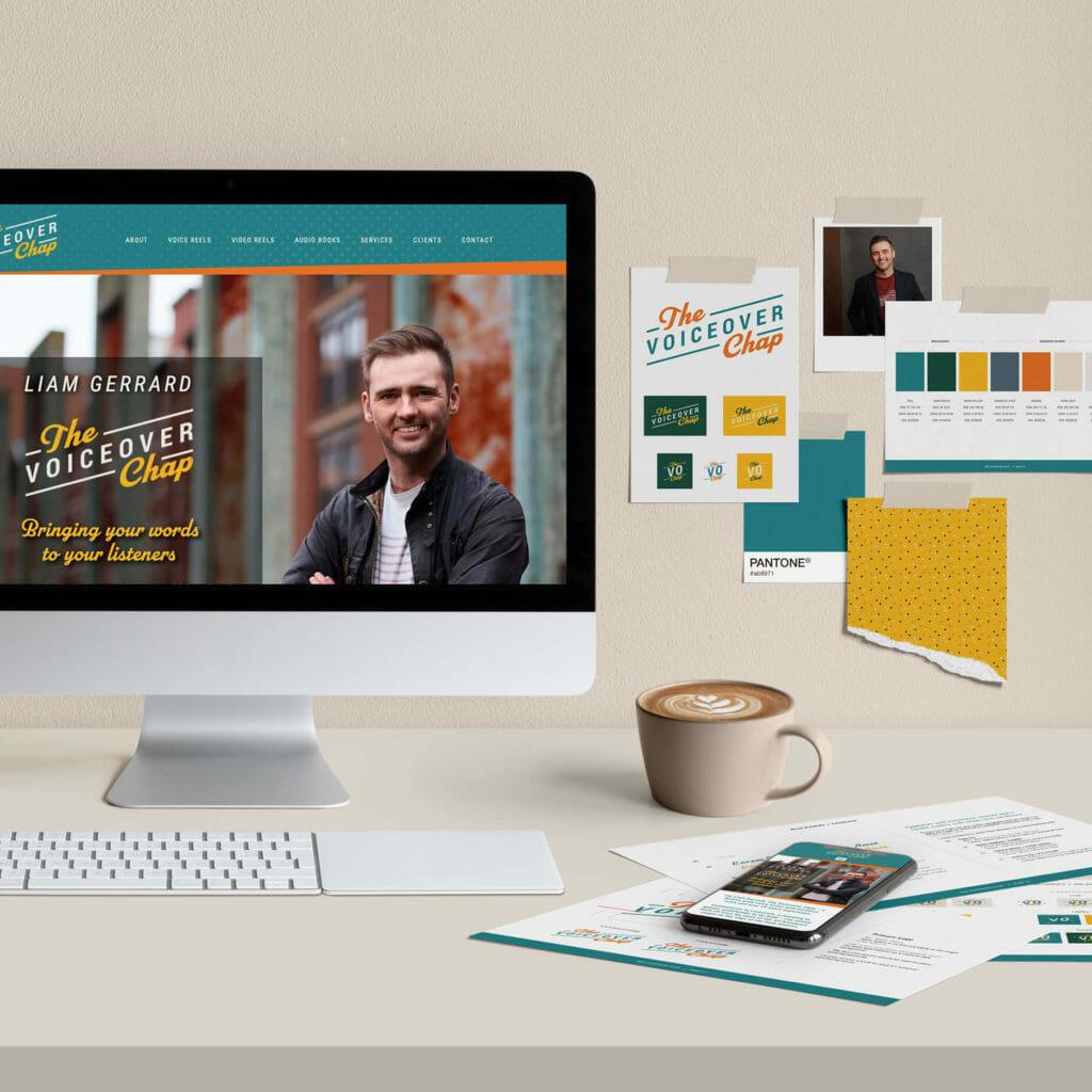 The Voiceover Chap Liam Gerrard branding, logo and website design
