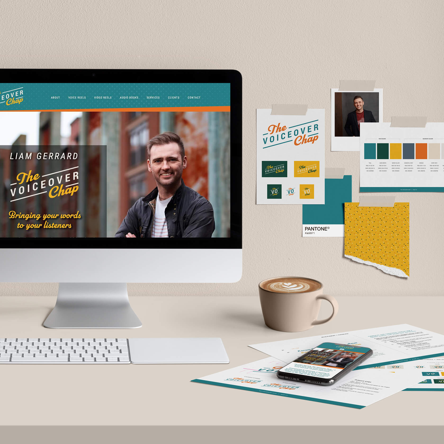 The Voiceover Chap Liam Gerrard branding, logo and website design