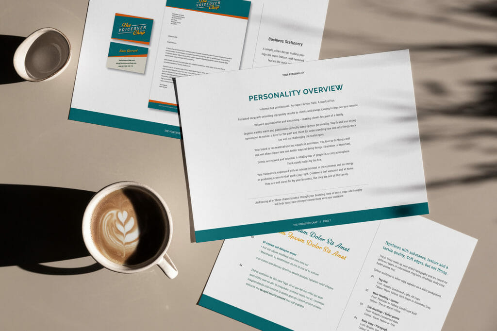 Brand personality for branding, logo and website design for The Voiceover Chap Liam Gerrard