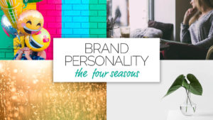 Voiceover branding personality – the four seasons represented visually.