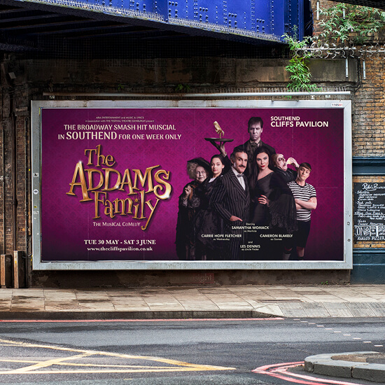 The Addams Family Musical tour promotion