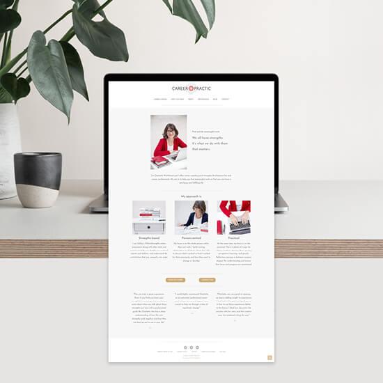 Career Practic coaching branding and website project