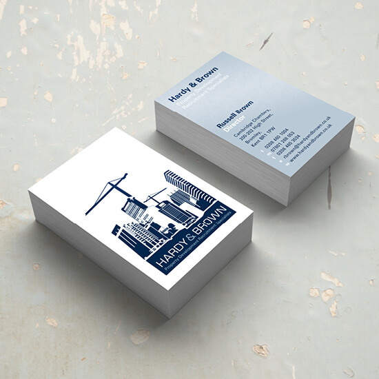 Hardy and Brown business cards