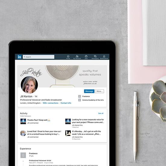 Jill Kenton voiceover custom social media templates and banner design