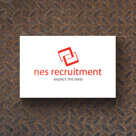 NES Recruitment logo design