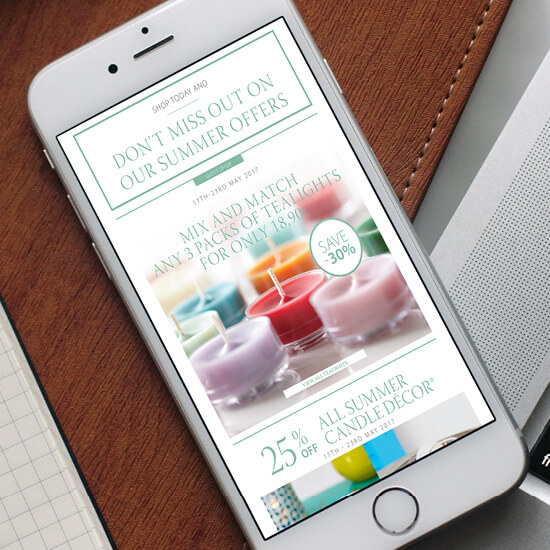 PartyLite email campaign