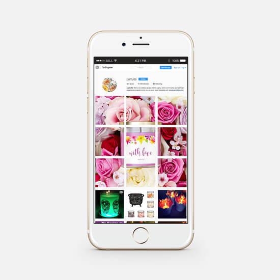 Partylite social instagram campaign