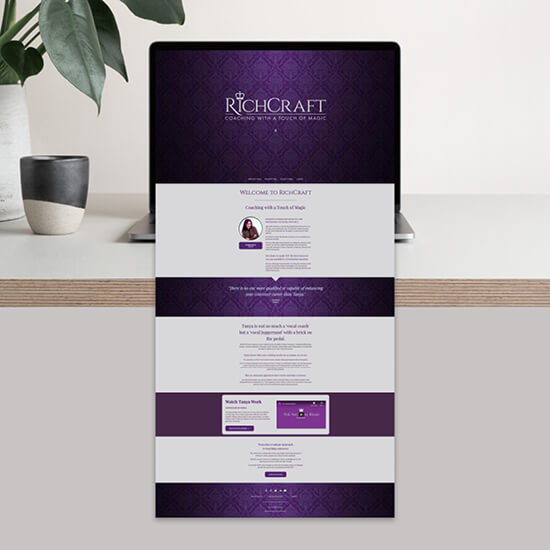 Richcraft voice coach brand logo website design