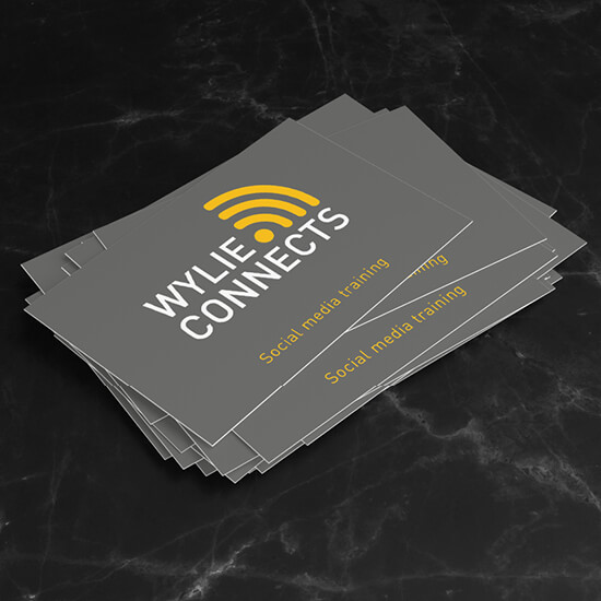 Wylie Connects social media branding and logo design