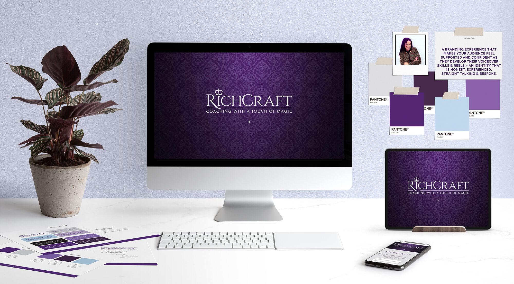 RichCraft voice coach brand and website scene.
