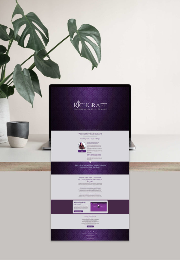 Richcraft voice coach website design