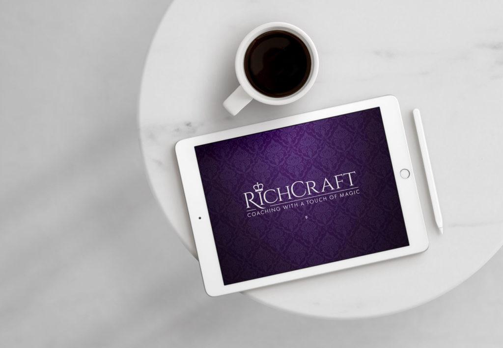 Richcraft voice coach website on an ipad