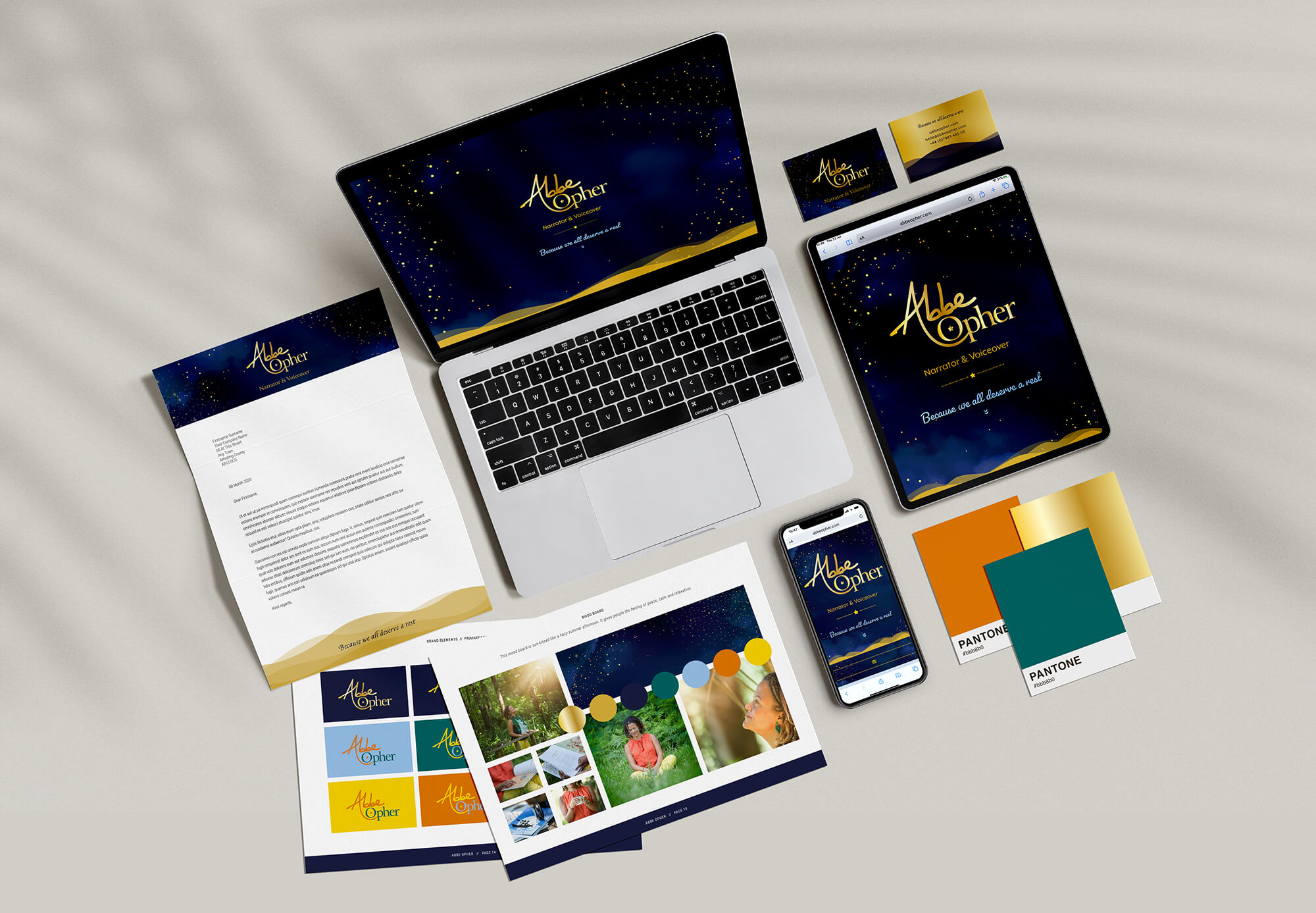 Abbe Opher voiceover and narrator branding and website project
