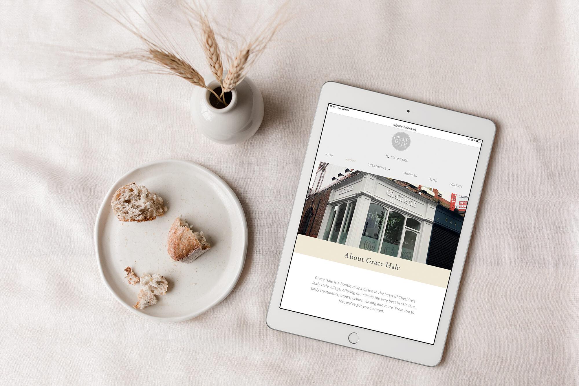 Grace Hale beauty salon website design