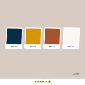 Autumn season brand personality colour palette