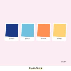 Spring season brand personality colour palette
