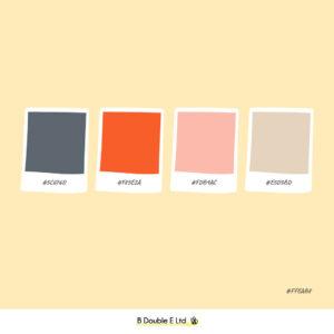 Summer season brand personality colour palette