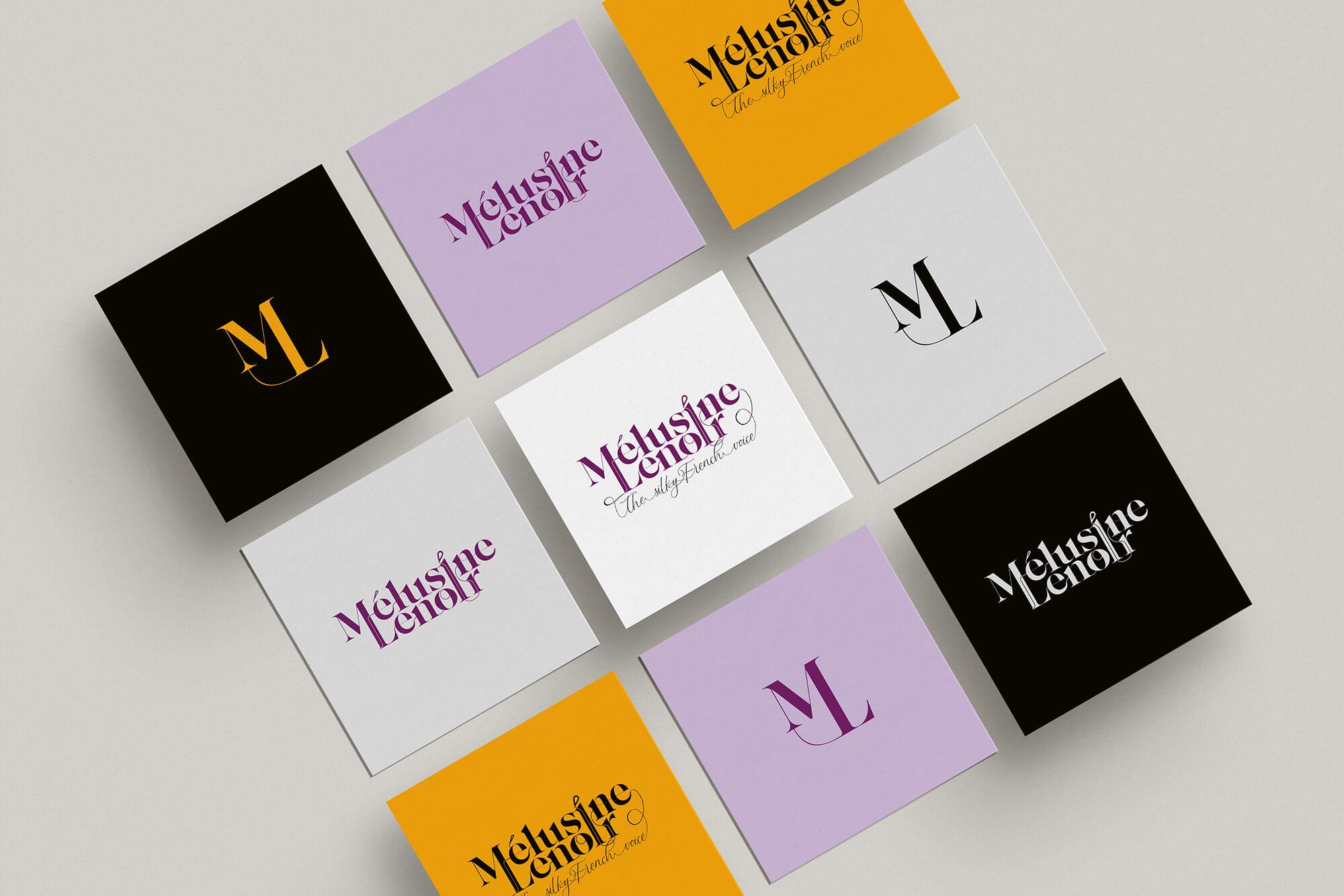 Melusine Lenoir voiceover branding logo