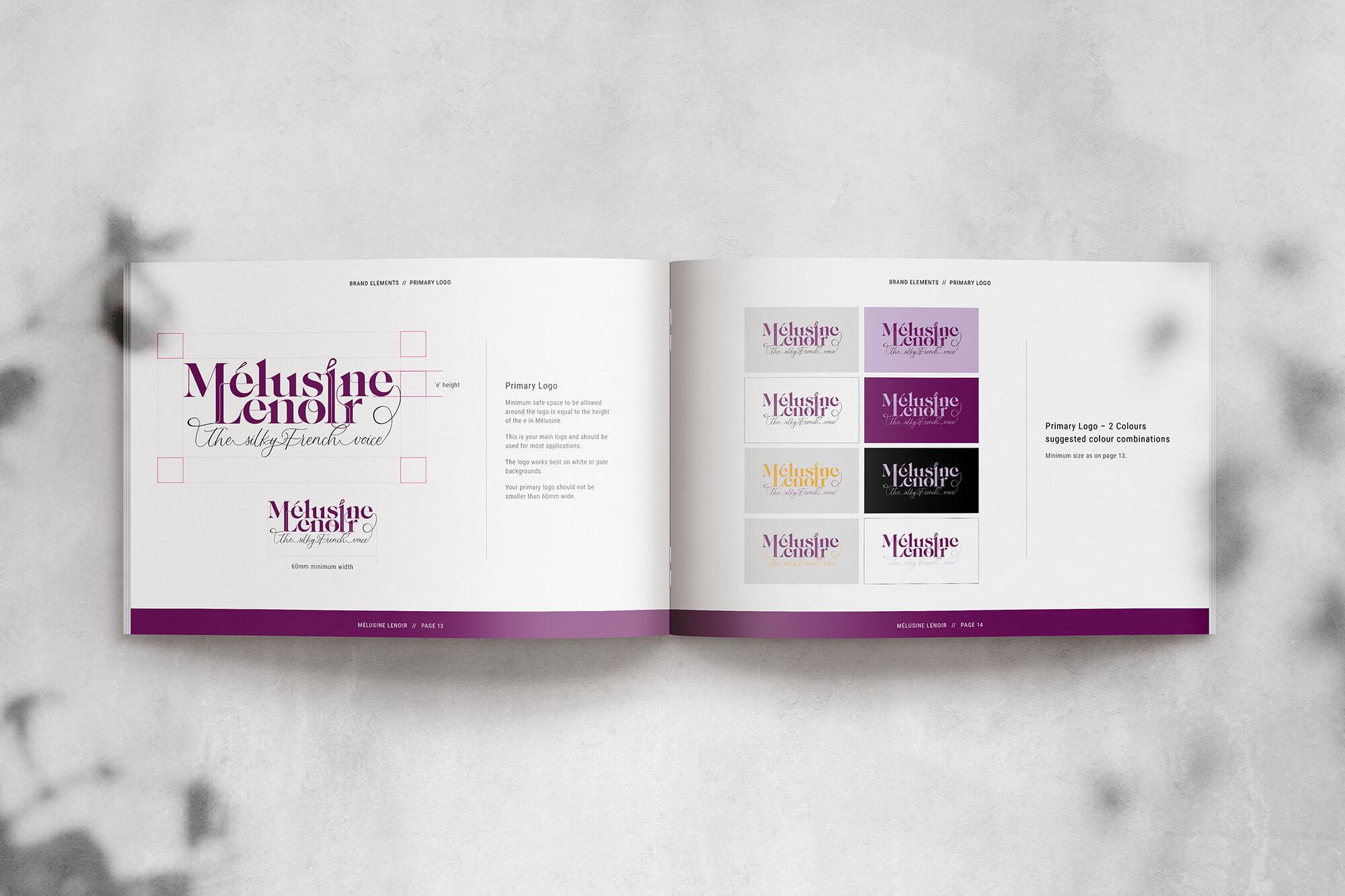 Melusine Lenoir voiceover branding logo guidelines