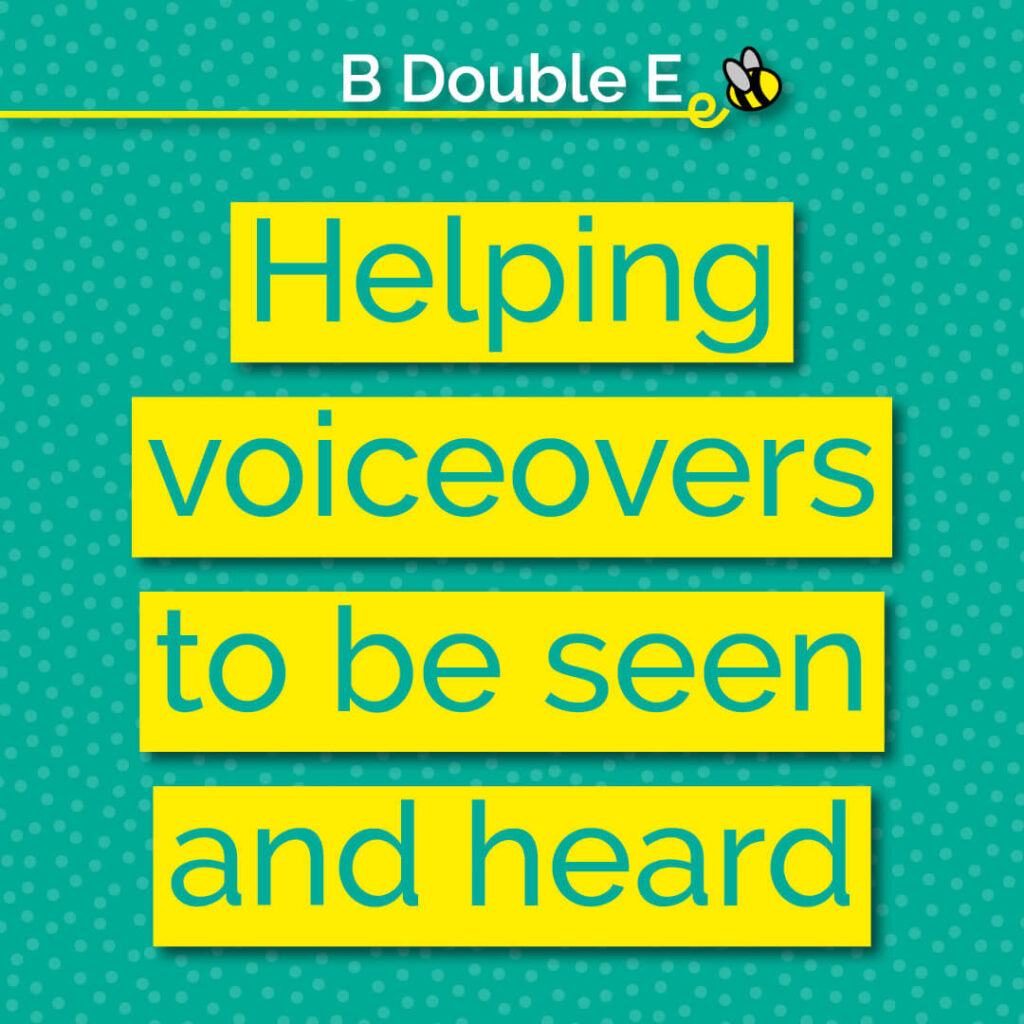 Helping voiceover to be seen and heard