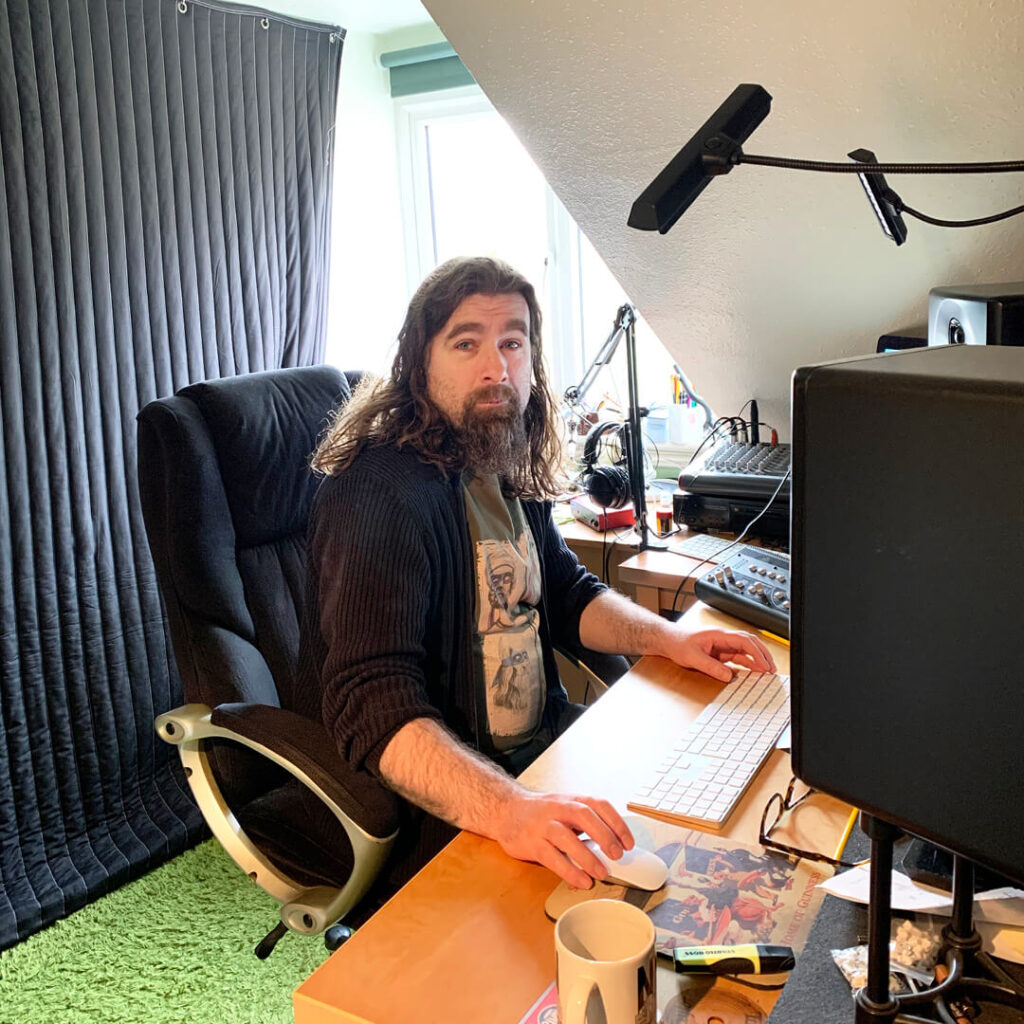 Rob Bee in his studio