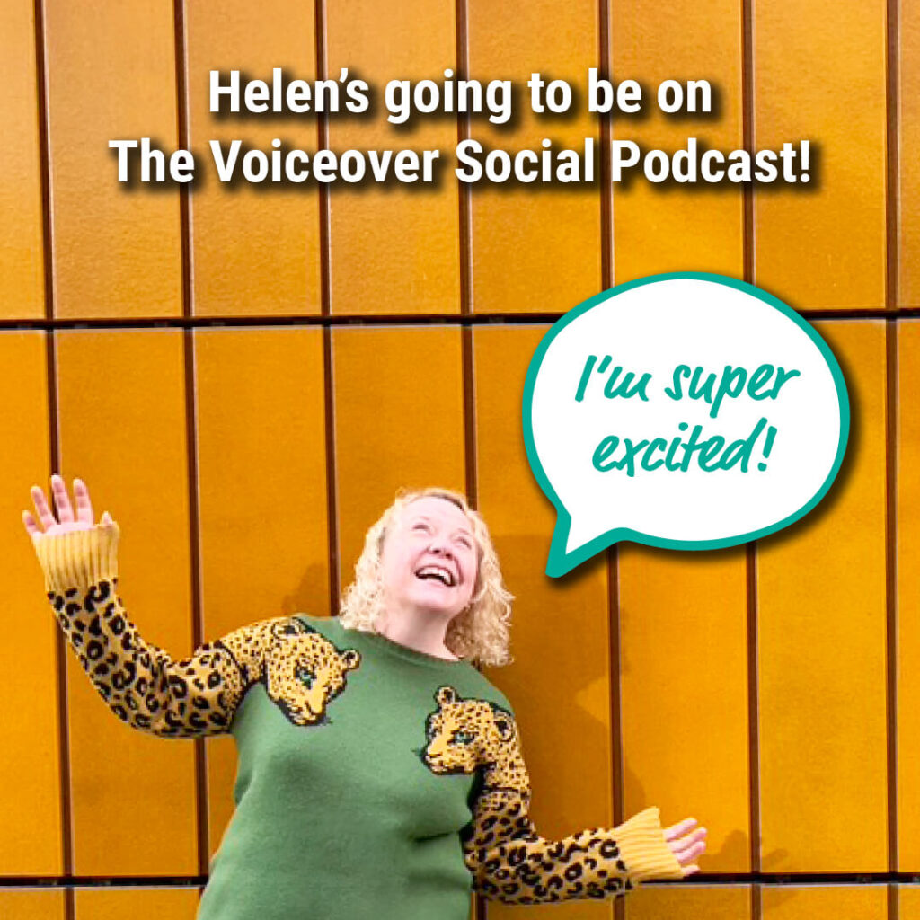 Helen Bee and the voiceover social podcast
