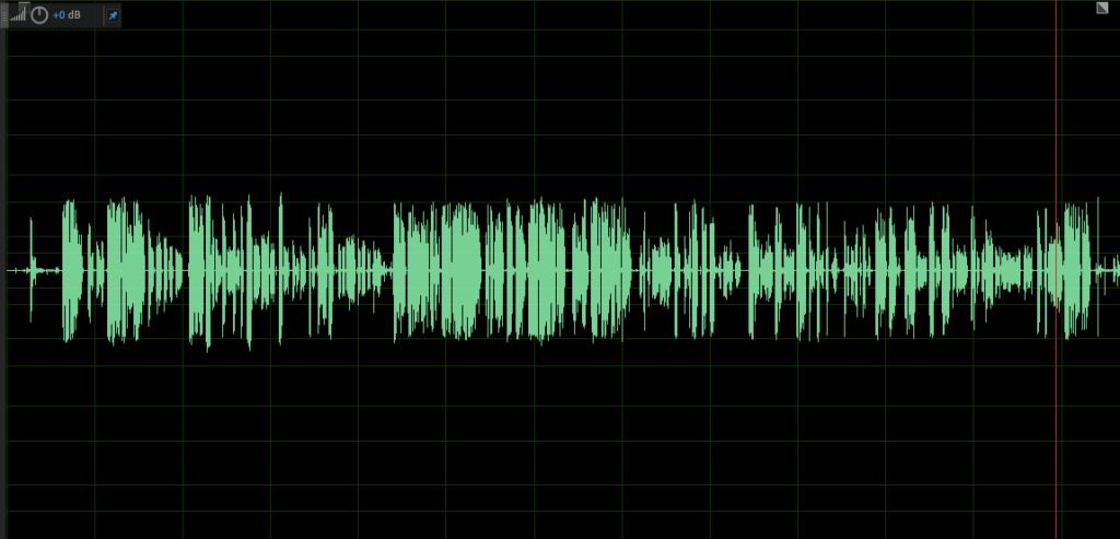 Compressed audio sample