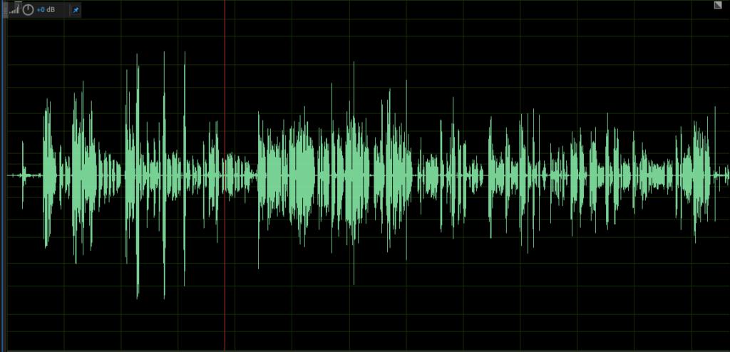 Normalised audio sample