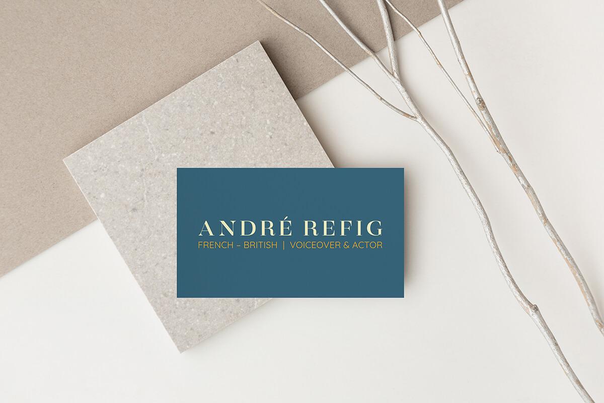André Refig voice actor logo