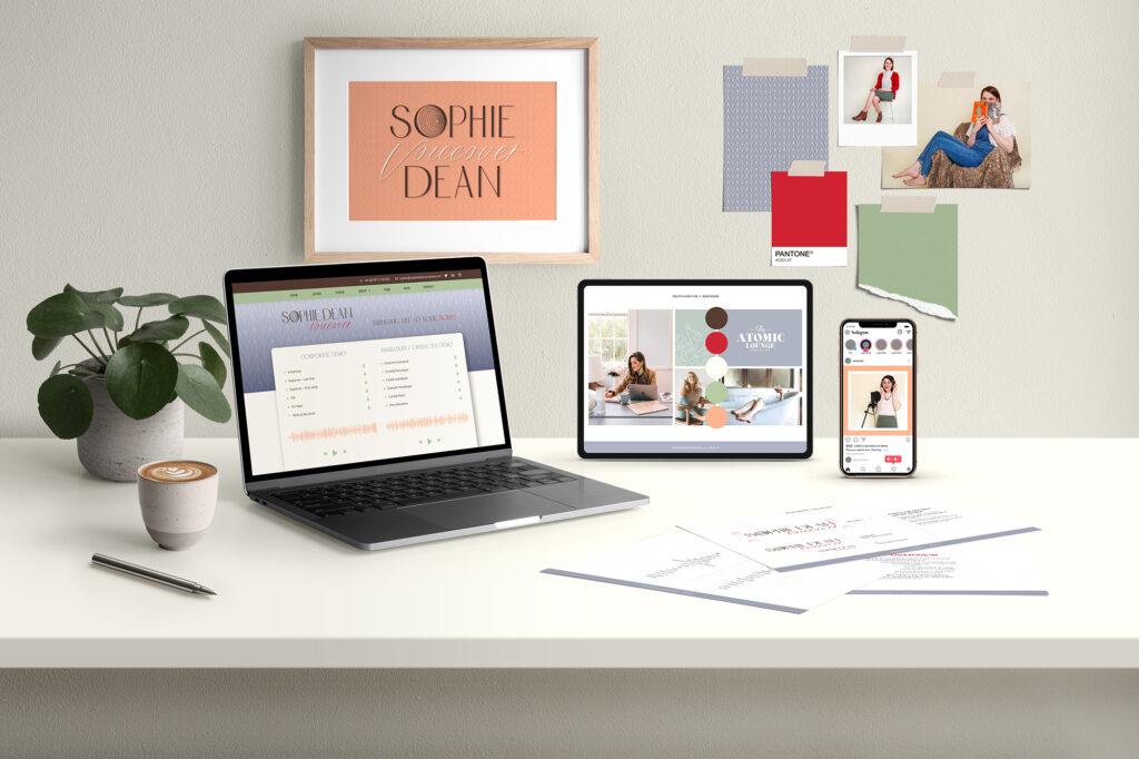 Sophie Dean voiceover brand and website design